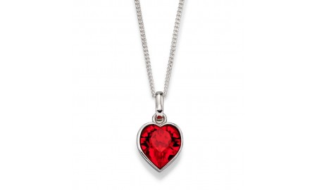 Beginnings Silver Swarovski Red Heart Pendant