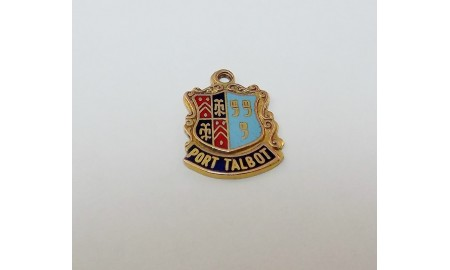 Pre-owned 9ct Gold Port Talbot Crest Charm