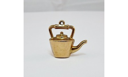 Pre-owned 9ct Gold Kettle Charm