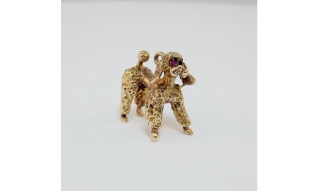 Pre-owned 9ct Gold Poodle Charm