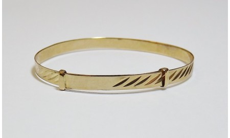 9ct Gold Baby Bangle