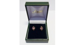 9ct Gold Pink Sapphire Stud Earrings