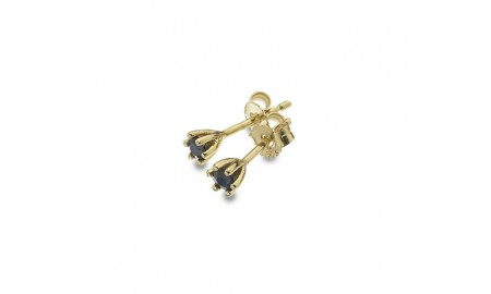 9ct Gold Sapphire Claw Stud Earrings