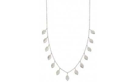 Elements Silver Multi Leaf Necklace