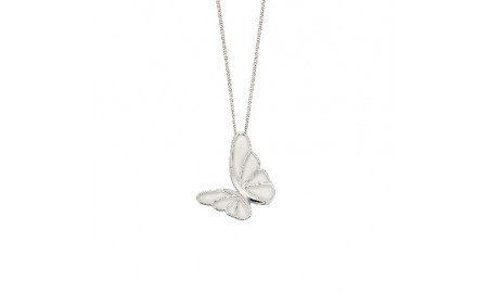 Elements Silver Statement Butterfly Pendant