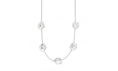 Elements Silver Cheese Plant Necklace