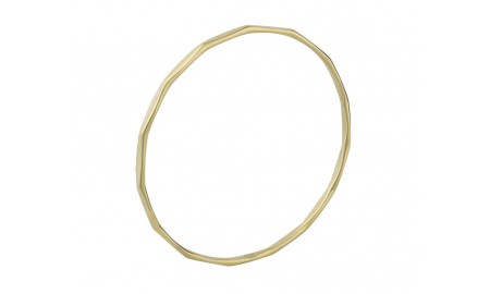 9ct Gold Facet Bangle