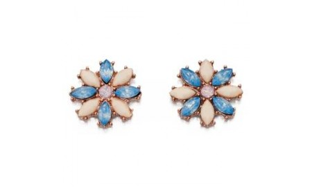 Fiorelli Costume Jewellery - Blue & Nude Crystal Earrings