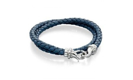 Fred Bennett Blue Leather Bracelet