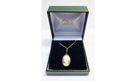 Vintage 9ct Gold Cameo Pendant