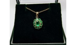 Pre-owned 9ct Gold Emerald Pendant