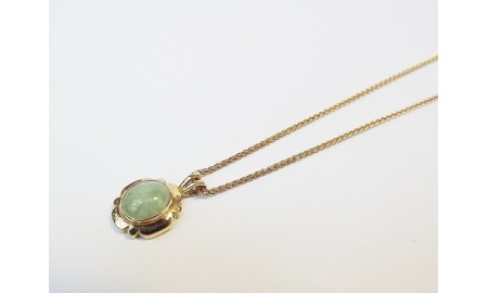 Pre-owned 9ct Gold Jade Pendant