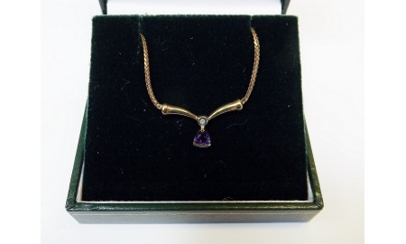 9ct Gold Amethyst Necklace