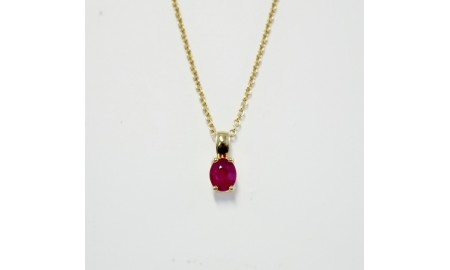 9ct Gold Ruby Pendant