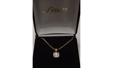 Pre-owned 18ct Gold Diamond Cluster Pendant