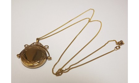 Pre-owned 9ct Gold Swivel Locket