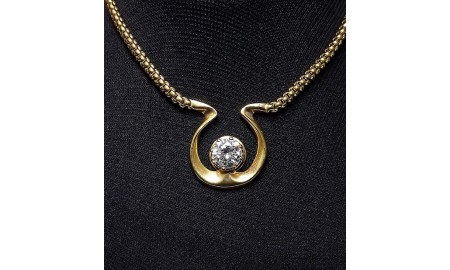 Pre-owned 9ct Gold Horse Shoe Necklace