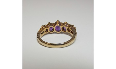 Pre-owned 9ct Gold Amethyst Dress Ring