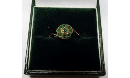 Pre-owned 9ct Gold Emerald Ring