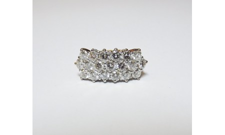 Pre-owned 9ct Gold Diamond Dress Ring