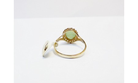 9ct Gold Jade Ring