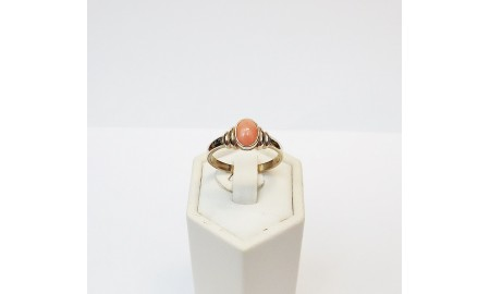 9ct Gold Coral Ring