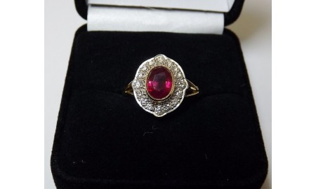 Pre-owned 18ct Gold Ruby & Diamond Ring
