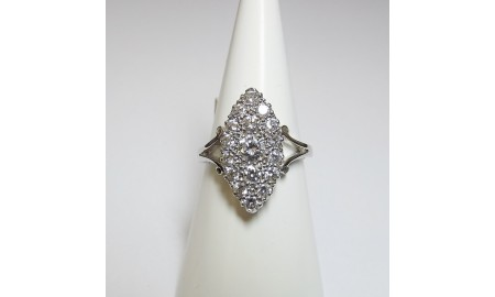 Pre-owned 18ct White Gold Marquise Diamond Dress Ring