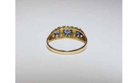 Antique 18ct Gold Sapphire & Diamond Ring