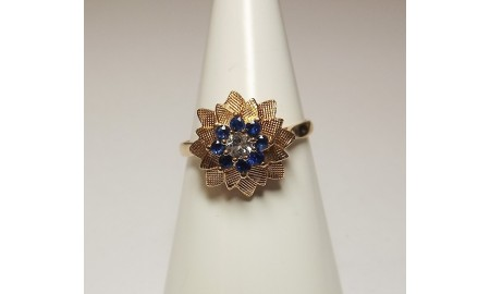 Pre-owned 9ct Gold Flower Dress Ring
