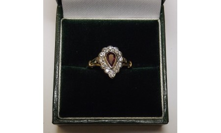 Pre-owned 18ct Gold Ruby & Diamond Dress Ring