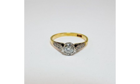Vintage 18ct Gold Diamond Ring
