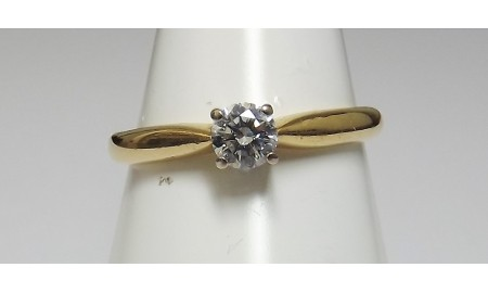 Pre-owned 18ct Gold Diamond Solitaire Ring