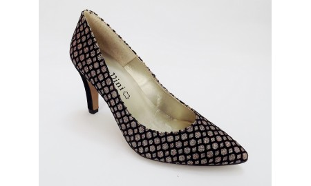 Capollini Black Glitter Evening Shoe
