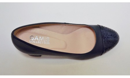 Gamis Navy Blue Court Shoe