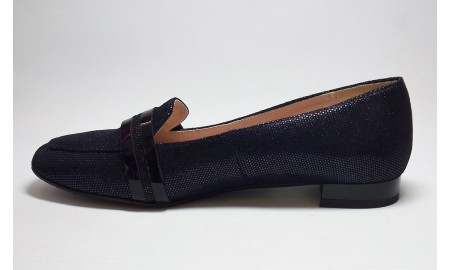 Gamis Navy Suede Sparkle Loafer