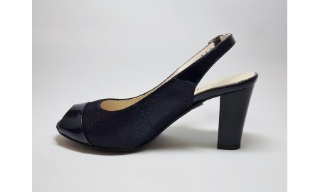 Gamis Collection Peep Toe Sling Back - Navy