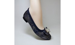 Gamis Collection Navy Multi Ballet Pump