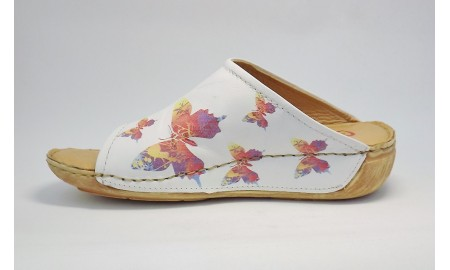 Heavenly Feet Butterfly - White Multi
