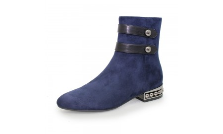Lunar Cava Military Ankle Boot - Navy