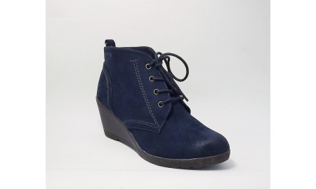 Marco Tozzi Navy Lace Up Ankle Boots