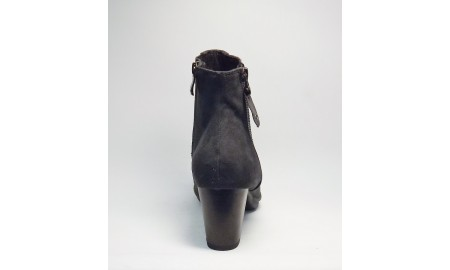 Marco Tozzi Anthracite Suedette Ankle Boot