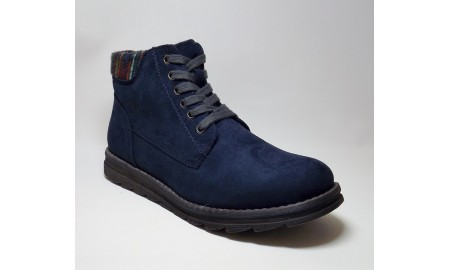 Marco Tozzi Navy Comb Ankle Boots