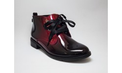 Marco Tozzi Merlot Patent Ankle Boots
