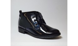 Marco Tozzi Navy Pantent Ankle Boots