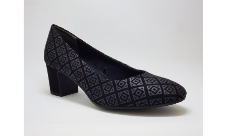 Marco Tozzi Anthracite Comb Court Shoe