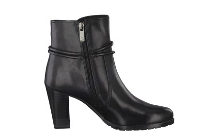 Marco Tozzi Black Antic Ankle Boots