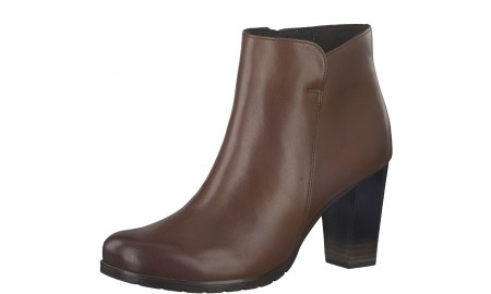Marco Tozzi Cognac Antic Ankle Boot