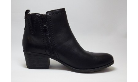 Marco Tozzi Black Antic Ankle Boot