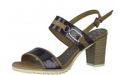 Marco Tozzi Navy & Tan Comb Sandals